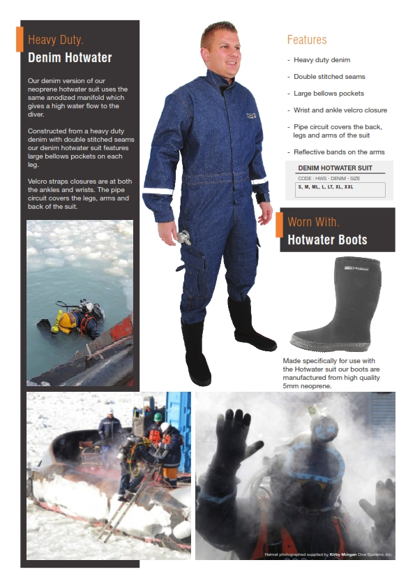 Northern Diver Hotwater Suit Denim Equipement For Commercial Diving