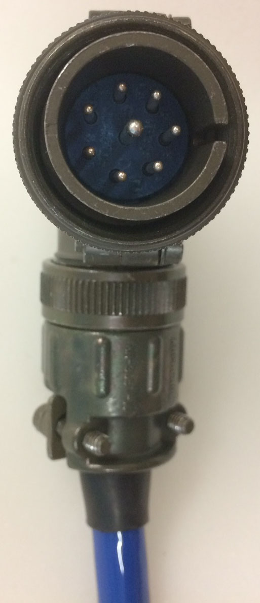 Amphenol Mil Spec 8 Pin Right Angle Connector With